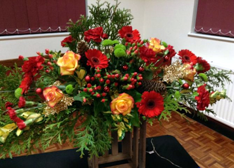 Picture of a floral arrangement
